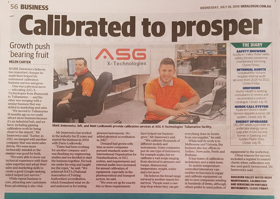 ASG Herald Sun Article